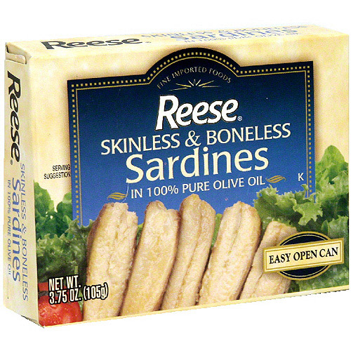 Reese Skinless & Boneless Sardines, 3.75 oz (Pack of 10)