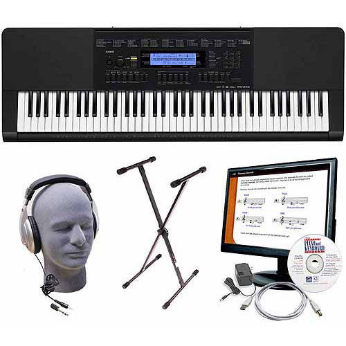 Casio WK-245 76-Key Premium Keyboard Package with Headphones, Stand, Power Supply, 6' USB... by Generic