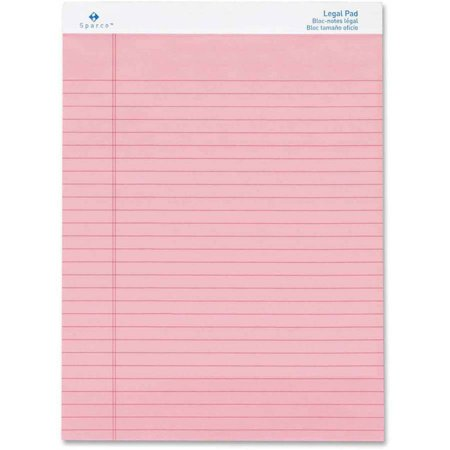 Sparco Pink Legal Ruled Pad - Sparco Legal Pad