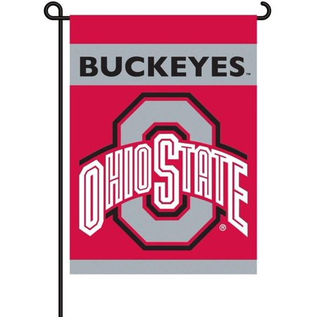 NCAA Ohio State Buckeyes 2-Sided Garden Flag, Officially licensed NCAA Collegiate product. By BSI ()