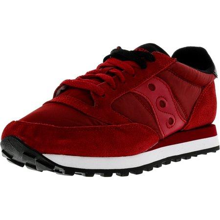 Saucony Men's Jazz Original Red / Black Ankle-High Leather Running Shoe - - Mens Jazz Shoe