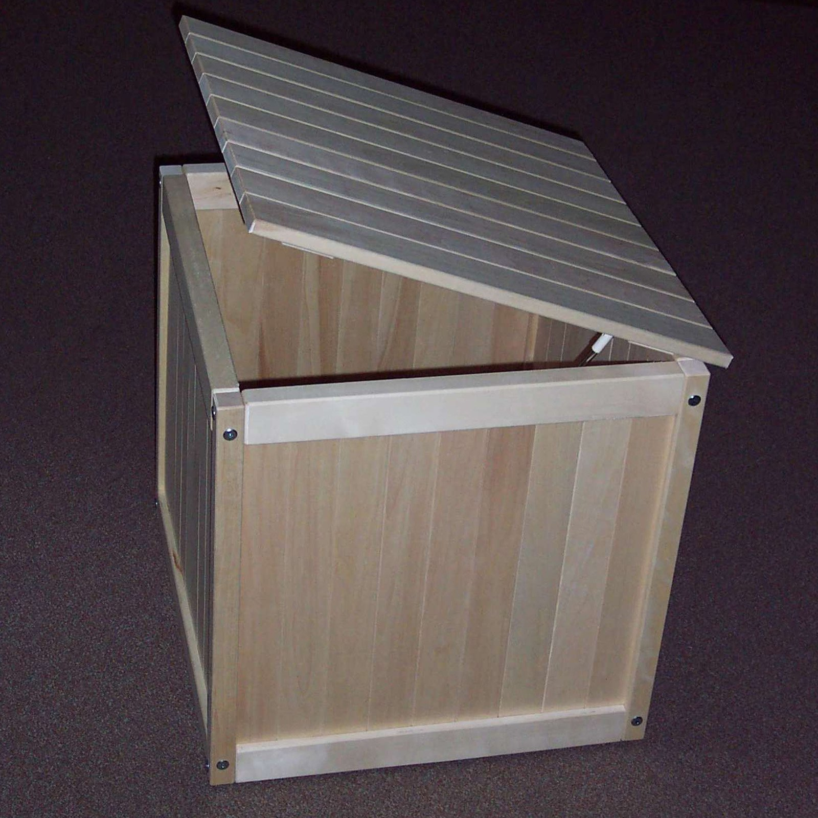 Prairie Leisure Classic 25 in. Outdoor Wood Storage Cube
