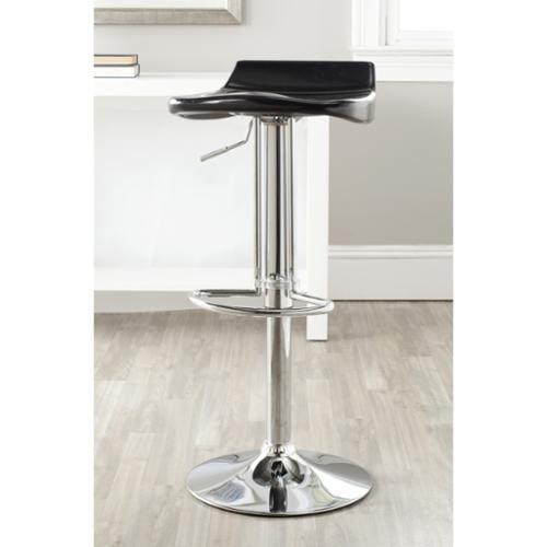Safavieh Avish Black Adjustable 24-32-inch Bar Stool by Overstock