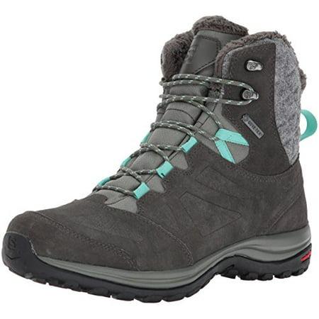 Salomon Women's Ellipse Winter Gtx Snow Boot, Castor Gray/Beluga/Biscay Green, 8 M