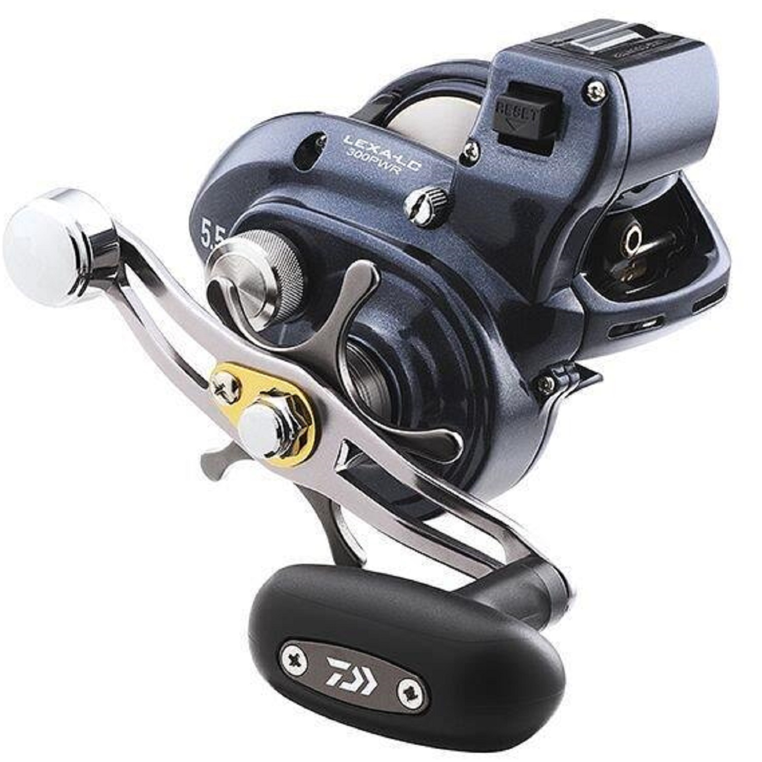 Daiwa Lexa Line LC300 Counter Reel 5.5:1 Gear Ratio, 7 Bearings, 22 lb Max Drag, Right Hand