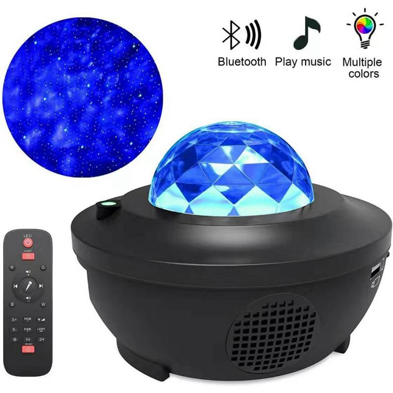 Star Projector Night Light Projector with Led Galaxy Ocean Wave Projector Bluetooth Music Speaker for Night Light Ambiance