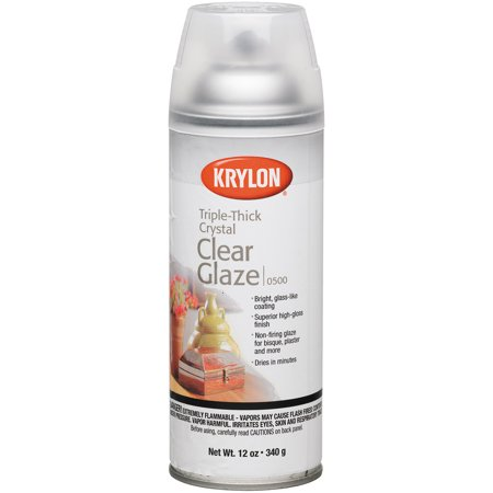 Krylon Triple-Thick Crystal Clear Glaze, 12 oz