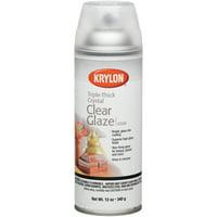 Krylon Triple-Thick Crystal Clear Glaze, 12 oz