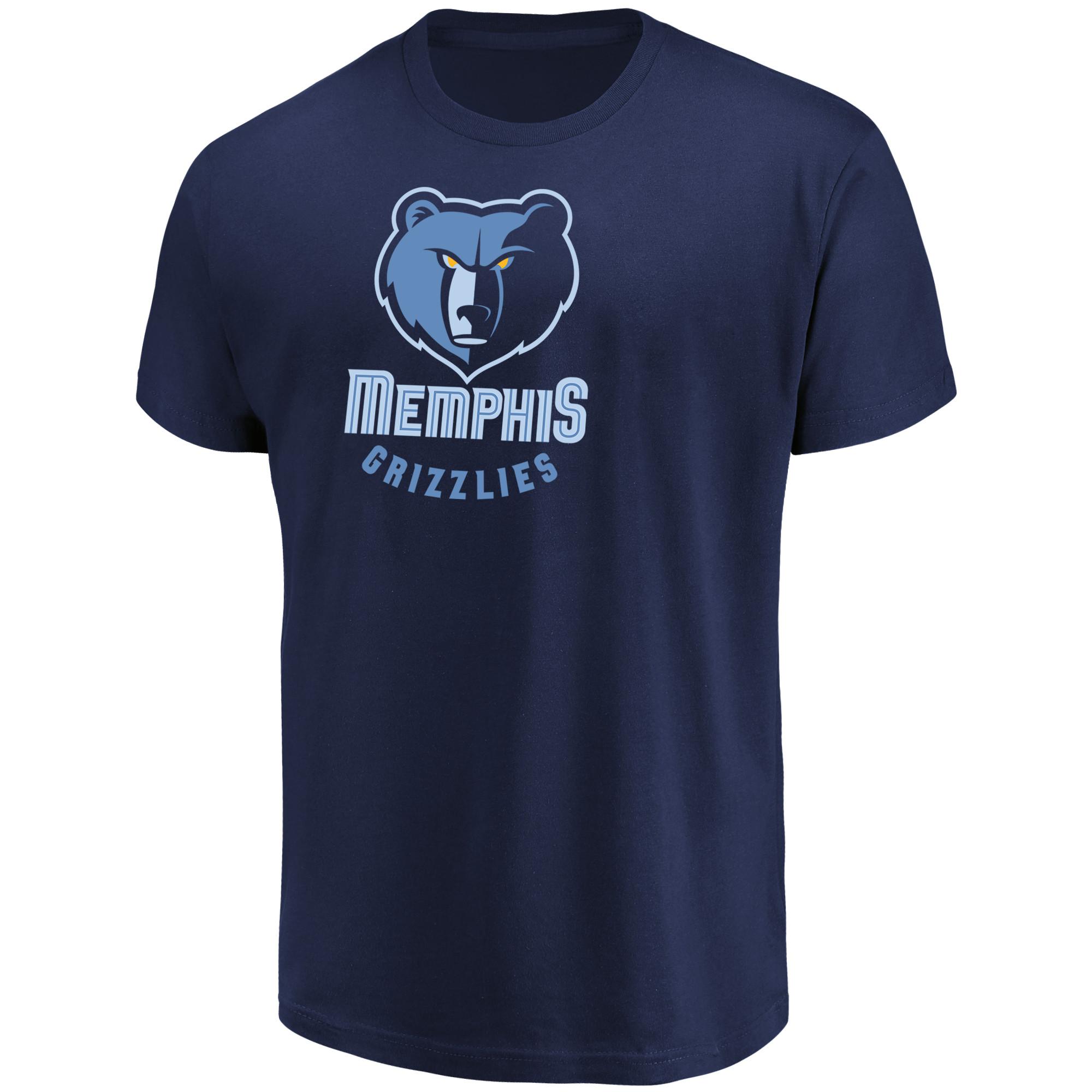 Men's Majestic Navy Memphis Grizzlies Victory Century T-Shirt