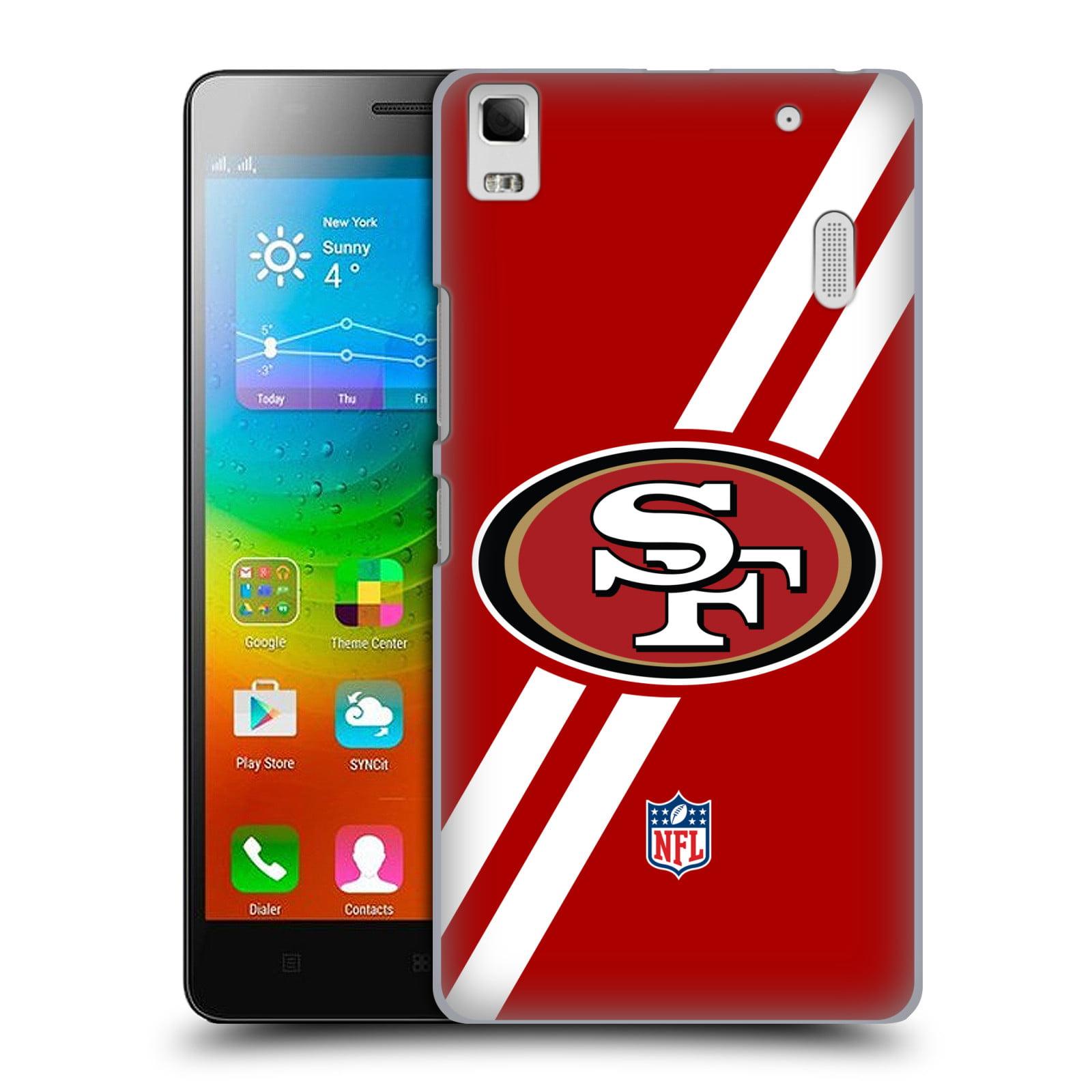 OFFICIAL NFL SAN FRANCISCO 49ERS LOGO HARD BACK CASE FOR LENOVO PHONES