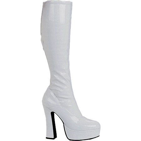 Morris Costumes Womens Boot Chacha White Size 7 Adult Halloween Costume Accessory (Kd 7 Halloween)
