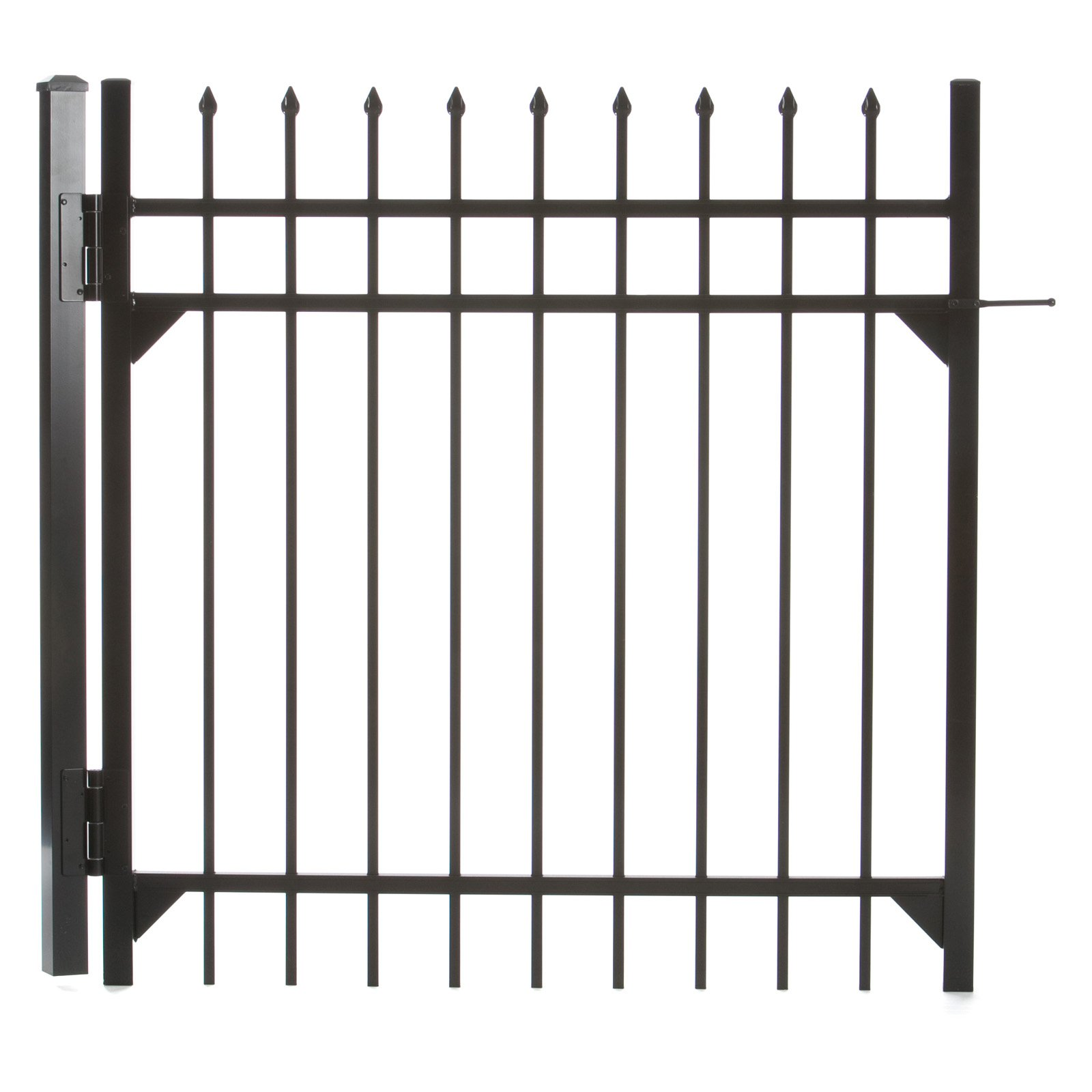 Specrail Madison Aluminum Walk Gate 3-Rail Panel - 4 ft.