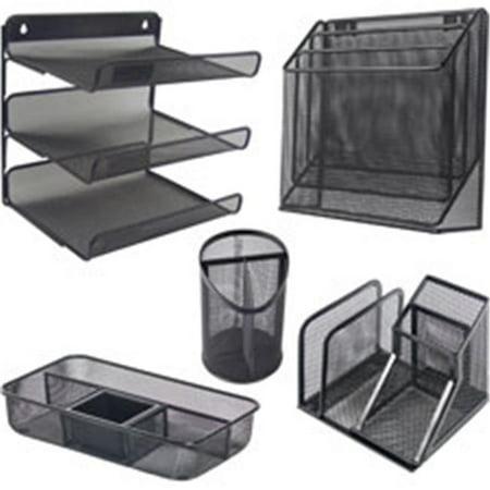 Black Mesh Desk Organizer - 11.4 x 3.5 in. Mesh Desktop Organizer - Black