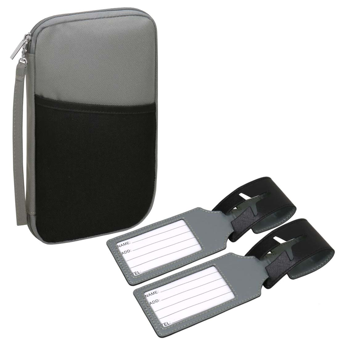RoryTory RFID Travel Passport Holder Case Organizer with 2 Luggage Tags