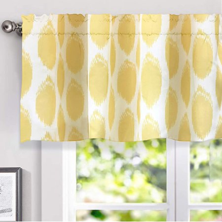 DriftAway Allen Circle Ikat Polka Dot Pattern Window Curtain Valance 52
