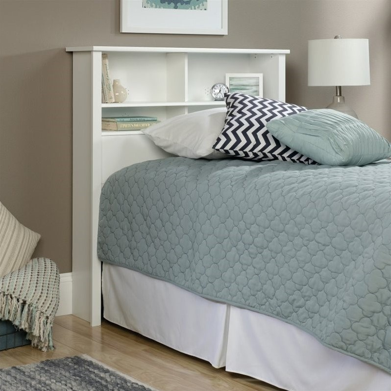 Sauder County Line Twin Bookcase Headboard in Soft White