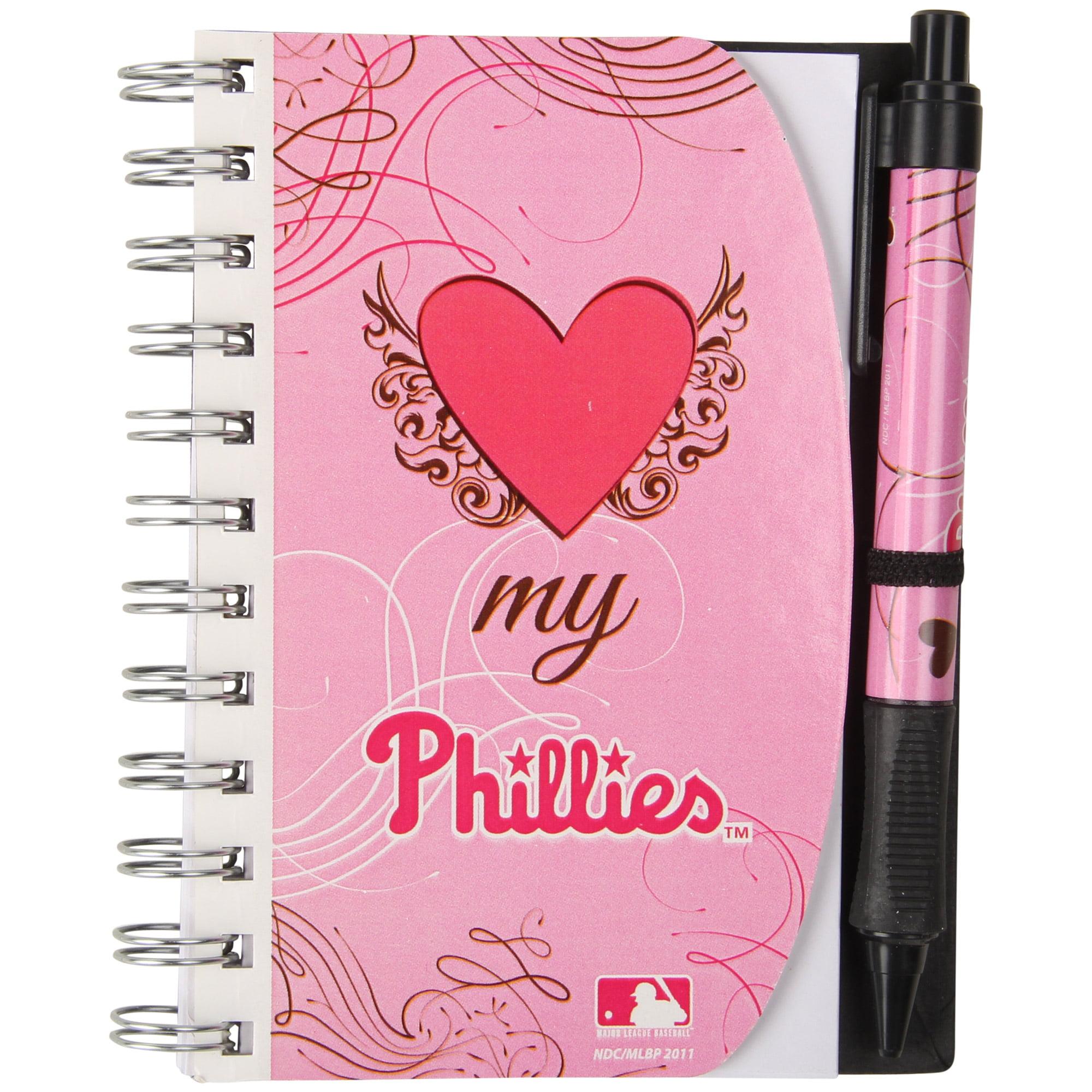 Deluxe Hardcover 4X6 Pink Notebook & Pen Set (Grip) - Philadelphia Phillies Philadelphia Phillies NBBBPHIP