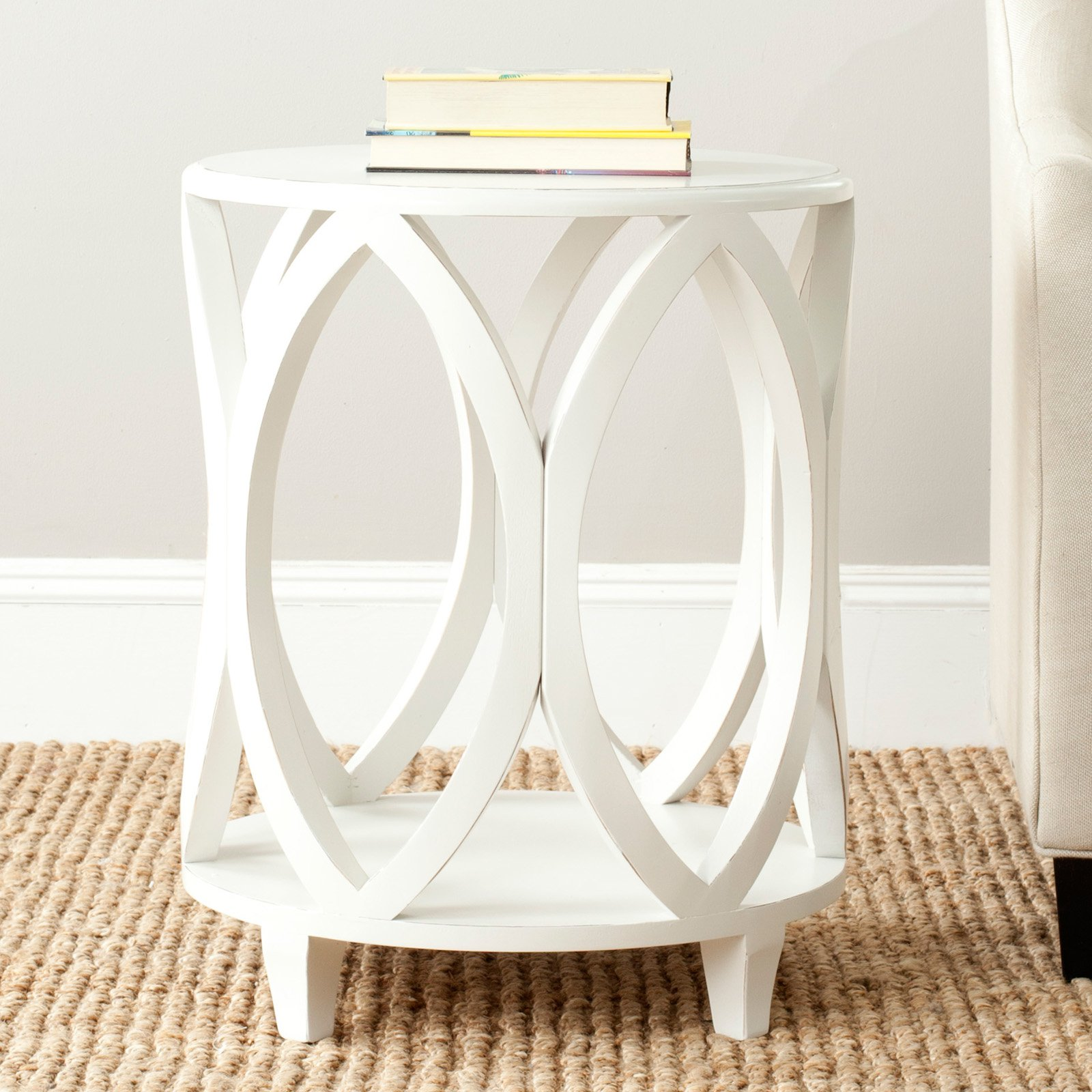 Safavieh Janika Accent Table Off White by Safavieh