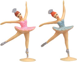 2 pc Ballerina Mini Cake Adornments (1.75 inches)