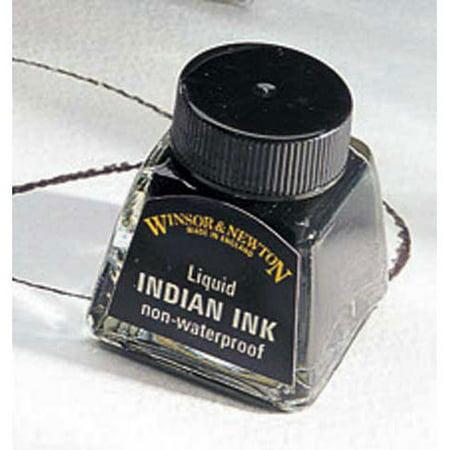 Classic Liquid Ink (Winsor & Newton - Liquid Indian Ink- Non-Waterproof - 1 oz.)