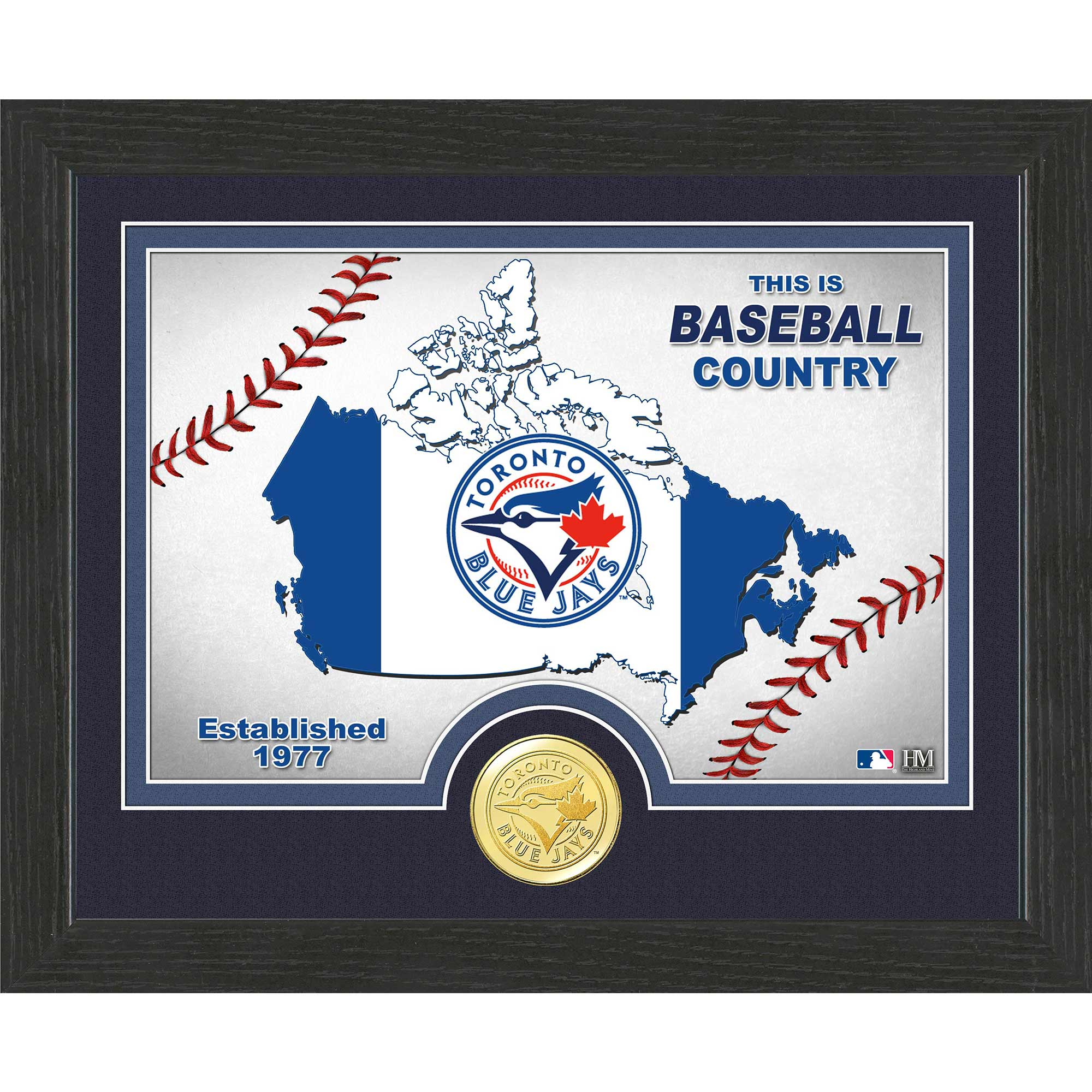 "Toronto Blue Jays Highland Mint 9"" x 11"" Country Photomint - No Size"