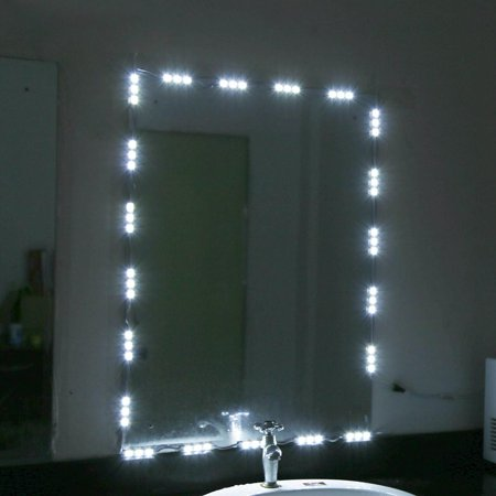 hurrise 5ft 10ft white led light strip kit dressing makeup cosmetic vanity mirror lighted with. Black Bedroom Furniture Sets. Home Design Ideas