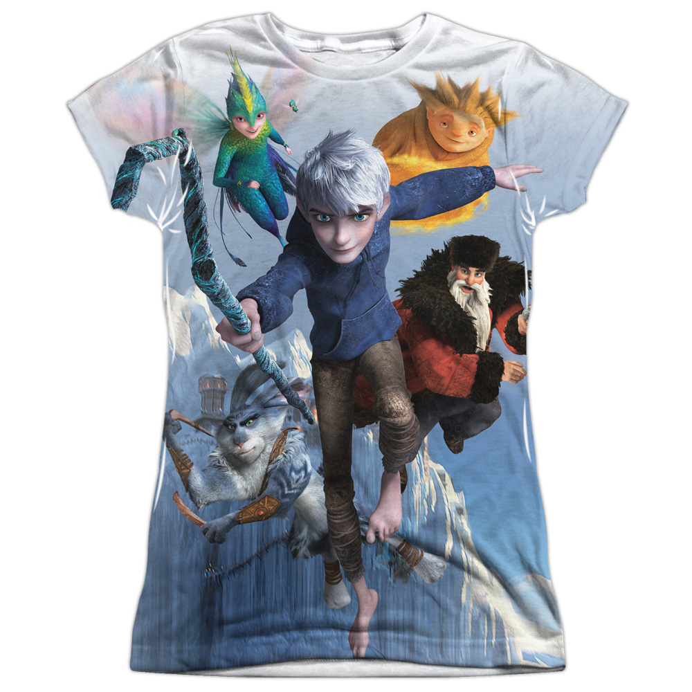 Rise of the Guardians Animated Movie Fight Together Junior Front Print  T-Shirt