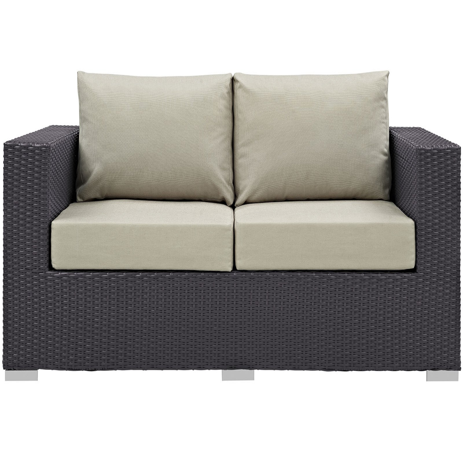 Modway Convene Outdoor Patio Loveseat, Multiple Colors