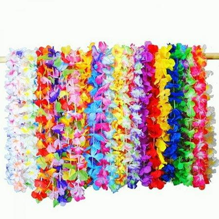 Hawaiian Luau Party Food (Joyin Toy 36 Counts Tropical Hawaiian Luau Flower Lei Party Favors (3)