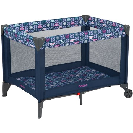 Cosco Funsport Portable Compact Baby Play Yard, Poppy Field