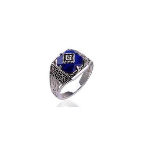 CET Domain SZ15-2140-5 Verbena Damon Guardian Ring Vampire Jewelry Silver Lapis Lazuli Gemstone-Size 5