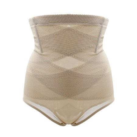 Women Beige Size XXXL High Waist Semi Sheer Belly Control Shaping