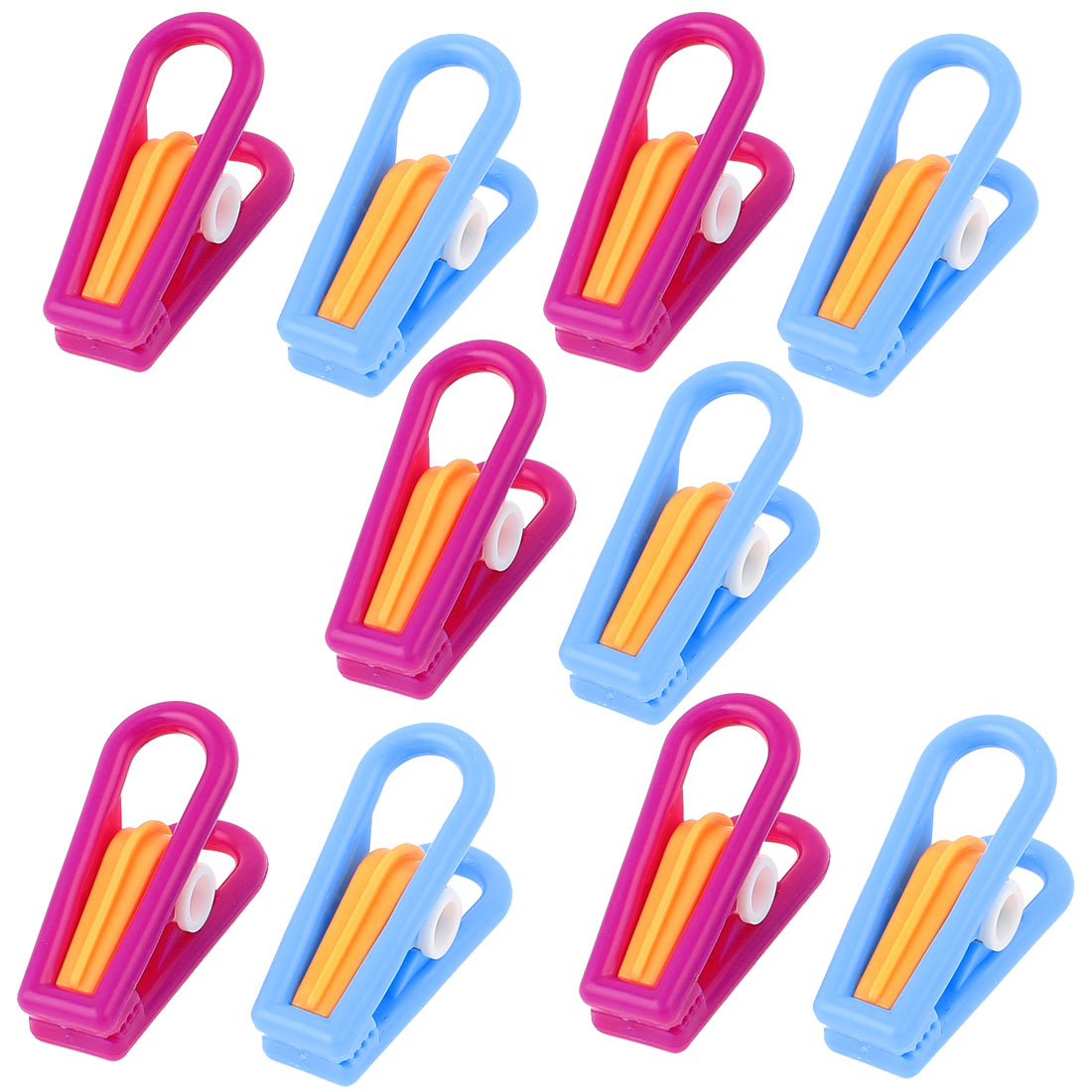 Unique Bargains 10 Pcs Household Plastic Nonslip Multipurpose Clothing Clothespins Clips Multicolour