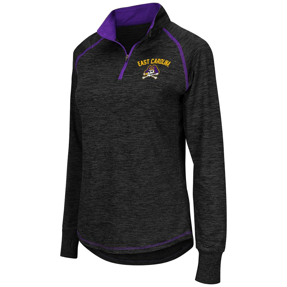 Womens NCAA East Carolina Pirates Bikram Long Sleeve Quarter Zip Shirt