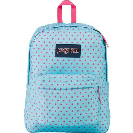 promo code e2194 28a93 JanSport - JanSport SUPERBREAK School Backpack Blue Topaz   Lipstick Kiss  Dot-O-Rama JS00T5013B4 - Walmart.com