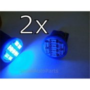 SmallAutoParts Blue T10 8-Smd Led Bulbs - Set Of 2