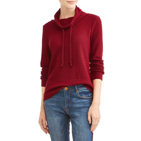 Second Layer Thermal Pullover (Juniors' Brushed Thermal Cowl Neck Pullover)