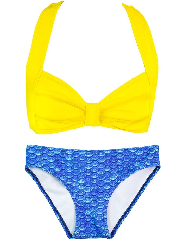 Girls Clamshell Bikini by Fin Fun Mermaid, Colorful Swimwear matches Fin Fun Mermaid Tails