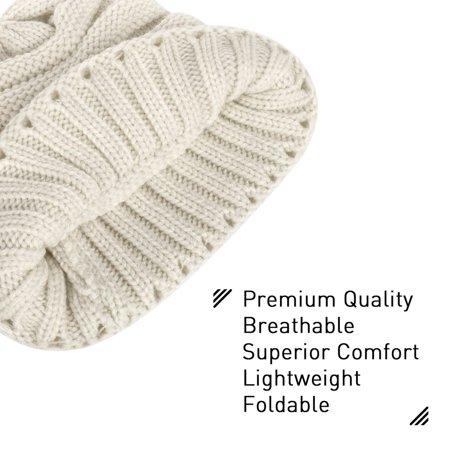 Zodaca Fashion Design Unisex Mens Womens Wavy Warm Winter Beanie Stretchy Knit Hat - Brown - image 3 of 5