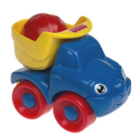 Move Vehicle - Happy Dump Truck, Tilt the bucket, it clicks! Clickety sound when bucket is moved back and forth. By FisherPrice Ship from US