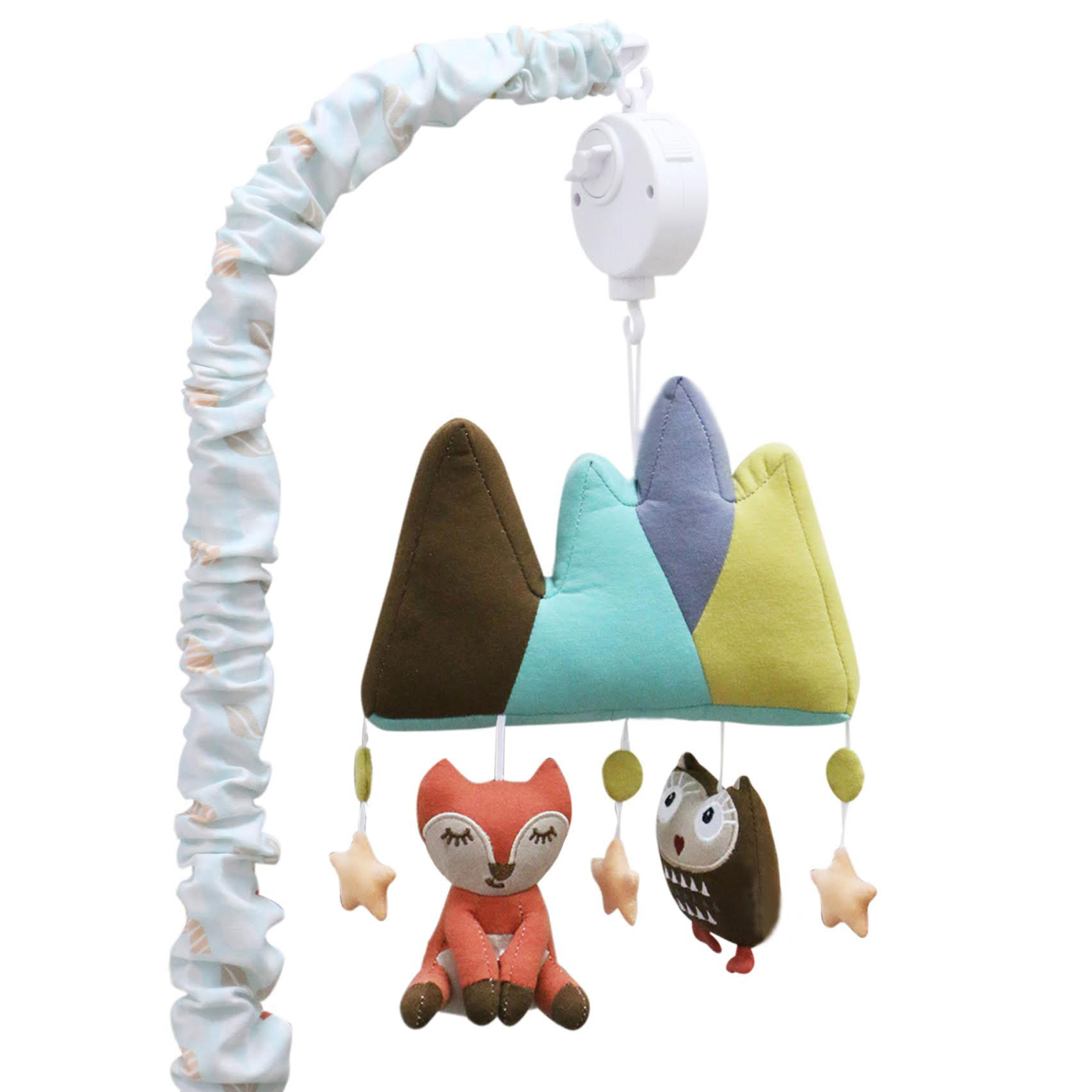 Little Haven Clever Fox Musical Mobile - Woodland Animals Theme - Nursery Crib Mobile