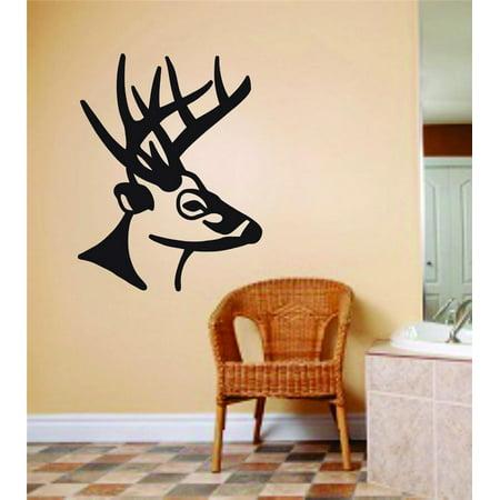 Deer Buck Animal Hunting Hunter Man Gun picture Art Sticker Vinyl Wall