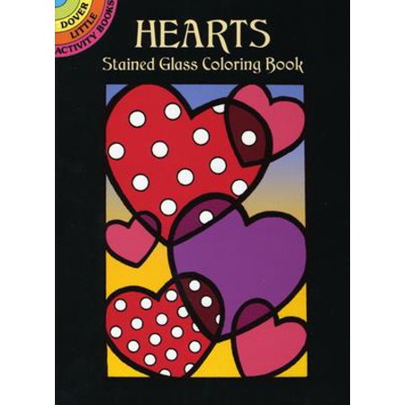 Hearts Stained Glass Coloring (Victorian Stained Glass Patterns)