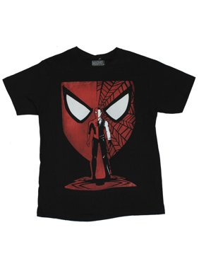 58115df0d89 Product Image Spider-Man Marvel Comics Mens T-Shirt - Stylized Half Parker    Spidey Standin