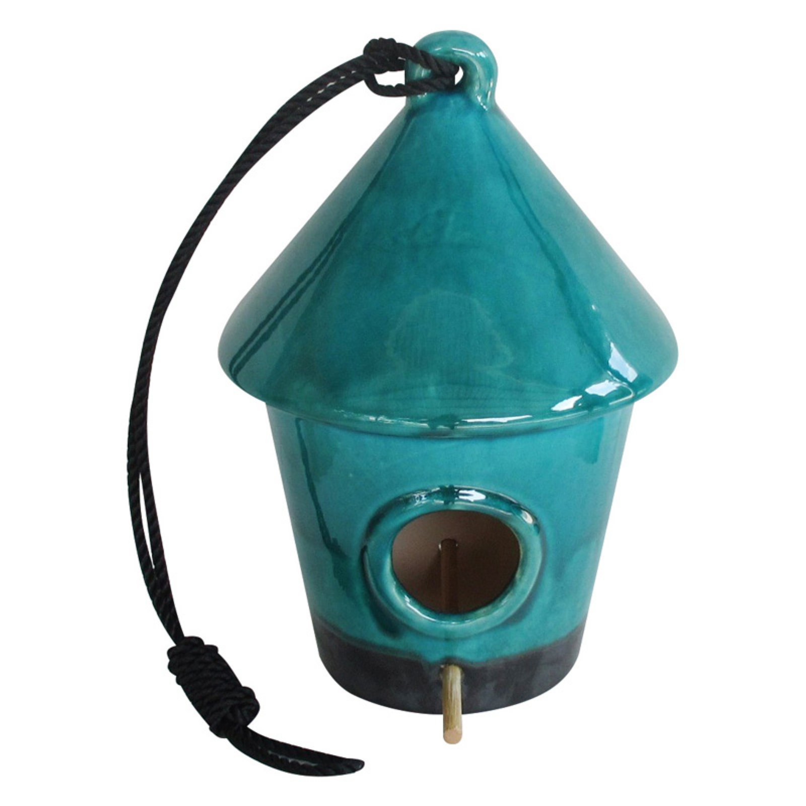 "10"" Hanging Birdhouse, Turquoise by Bird Houses"