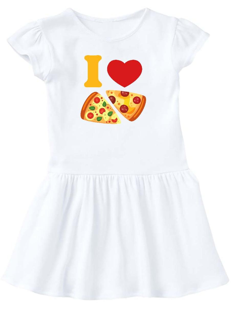 I Love Pizza Toddler Dress