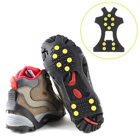 10 Studs Anti-Skid Snow Shoes Cover Durable Spikes Grips Crampon Cleats - image 5 of 6