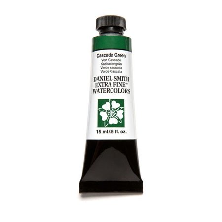 Green Watercolour - DANIEL SMITH / JJC LLC 284600142 DANIEL SMITH XF WATERCOLOR 15ML CASCADE GREEN