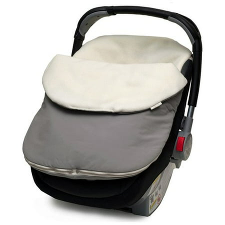 Fleurville Baby Bundle, Graphite The Fleurville Baby Bundle in Graphite offers a warm and cozy alternative to winter coats and blankets. The soft polyester fabric fits snuggly over a car seat to insulate baby from cold weather. This car seat baby carrier cover fits standard infant carriers as well as some strollers and joggers.