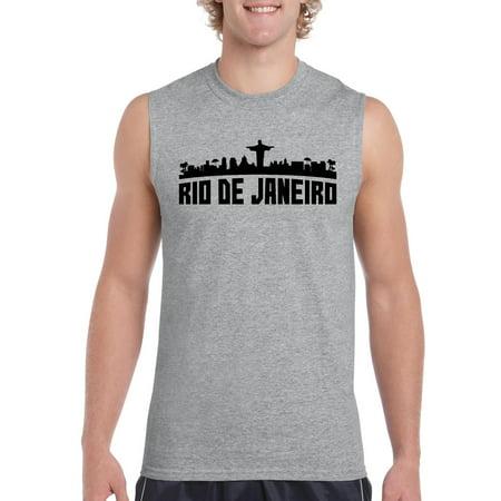Brazil Sleeveless (Rio De Janeiro Brazil Men's Ultra Cotton Sleeveless T-Shirt )